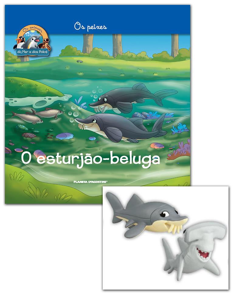 22/05/2019 (LIVRO + CONJUNTO DE FIGURAS: Esturjão mamã + Tubarão-martelo bebé)