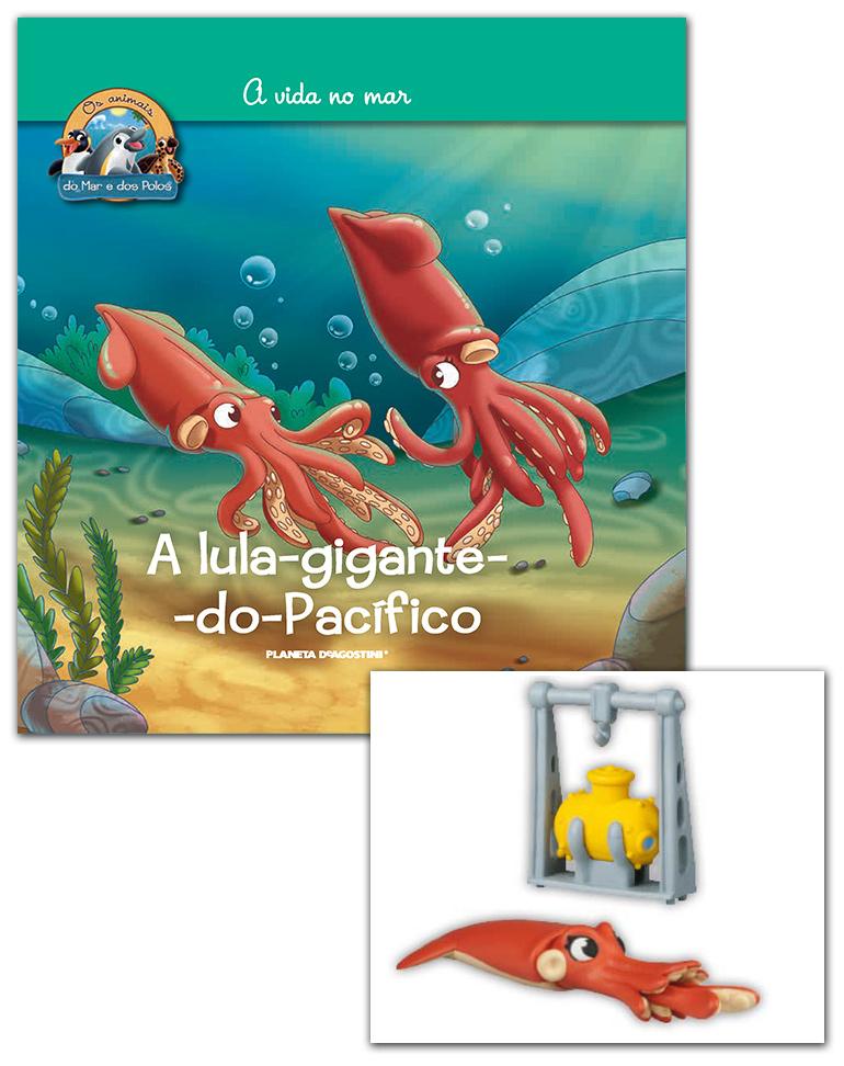 19/06/2019 (LIVRO + CONJUNTO DE FIGURAS: Batisfera + Lula gigante mamã)
