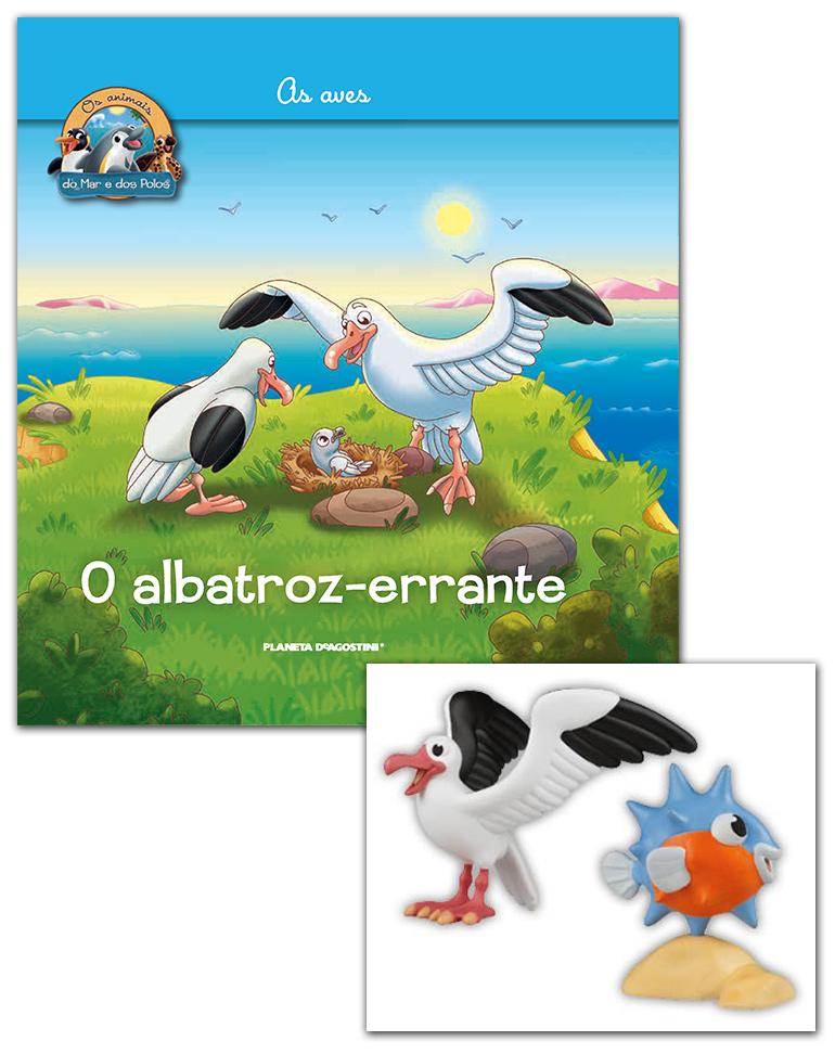 26/06/2019 (LIVRO + CONJUNTO DE FIGURAS: Albatroz + Peixe-lua bebé)