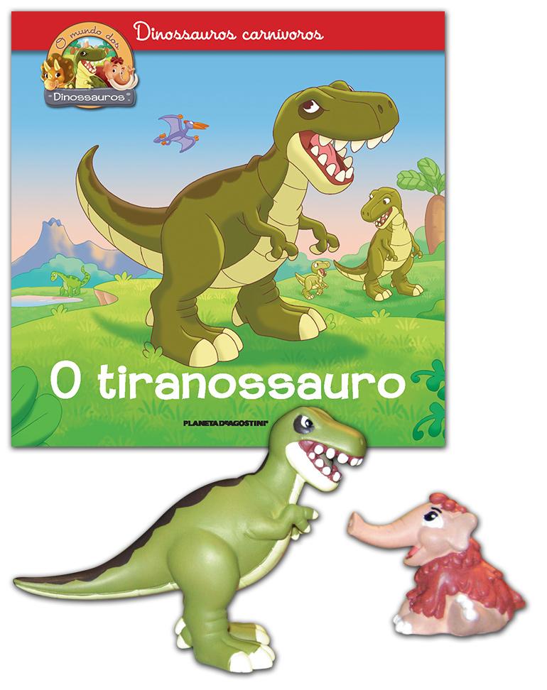 10/04/2019 (Livro + Tiranossauro papá + Mamute bebé)