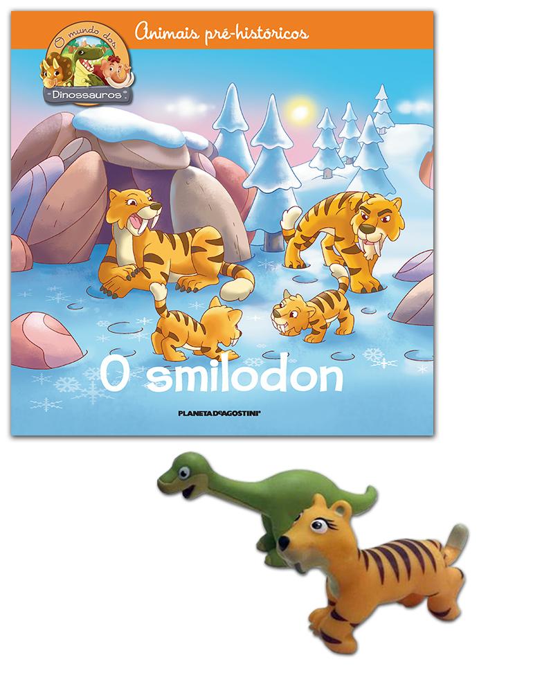 26-06-2018 (LIVRO + Smilodon mamã + Brontossauro bebé)