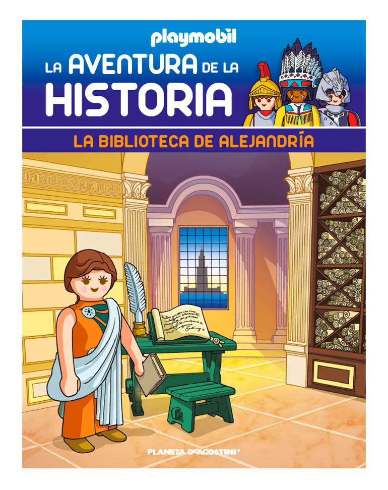 Entrega 64: La biblioteca de Alejandría + 2 fichas + Figura