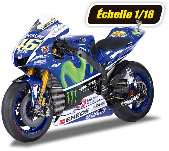 VR46 Miniature Moto Valentino Rossi Moto GP Yamaha Racing 16 /échelle 1//10/ème